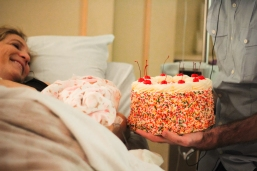 She requested a birthday cake with lots of sprinkles... and was not disappointed!